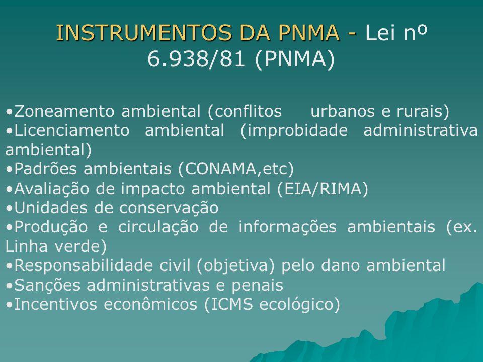 INSTRUMENTOS DA PNMA - Lei nº 6.938/81 (PNMA)