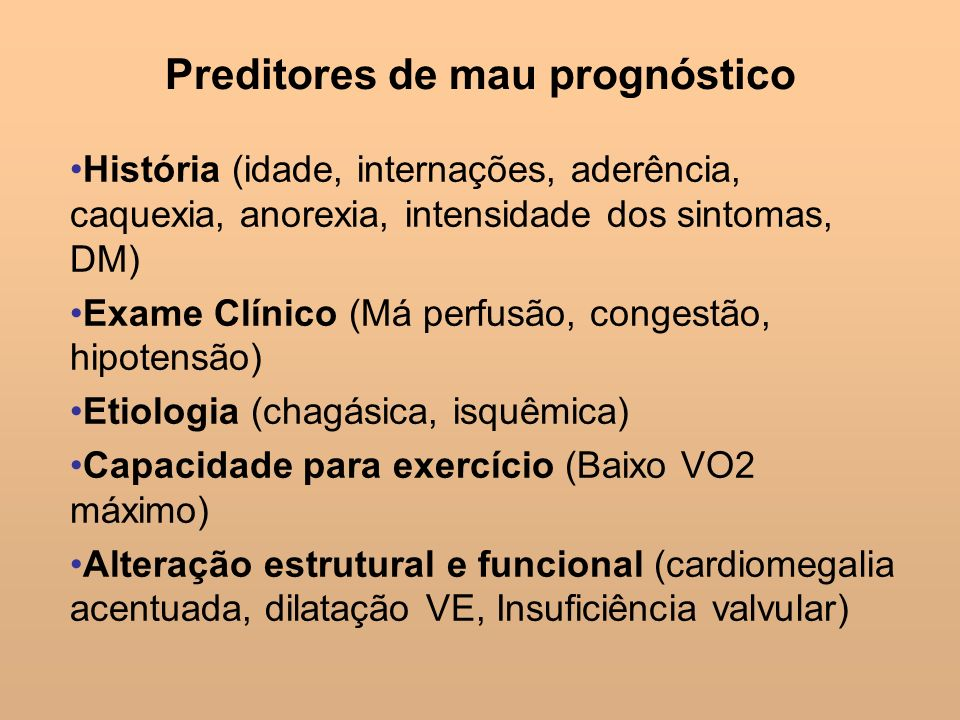 Preditores de mau prognóstico
