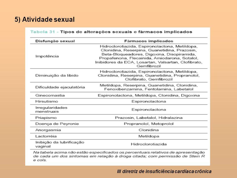 5) Atividade sexual III diretriz de insuficiência cardíaca crônica