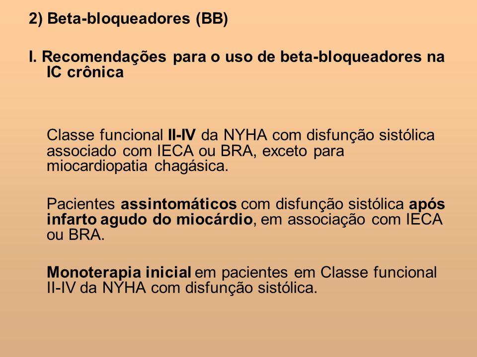 2) Beta-bloqueadores (BB)
