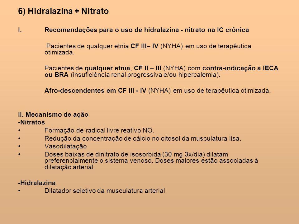 6) Hidralazina + Nitrato