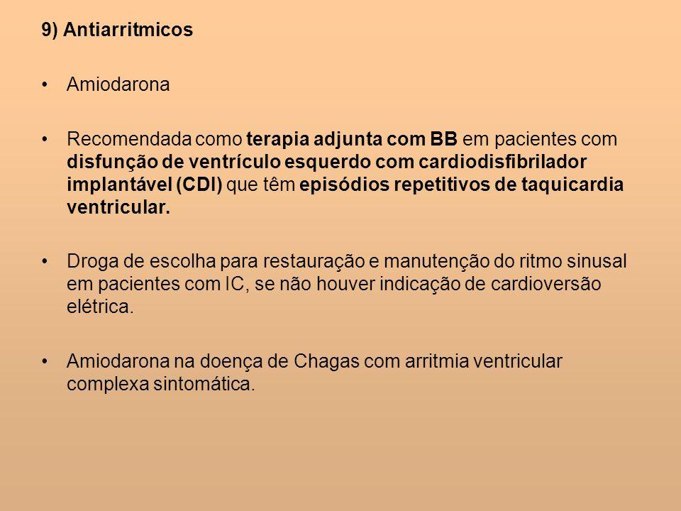 9) Antiarritmicos Amiodarona.