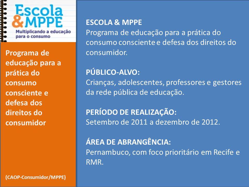 PERÍODO DE REALIZAÇÃO: Setembro de 2011 a dezembro de 2012.
