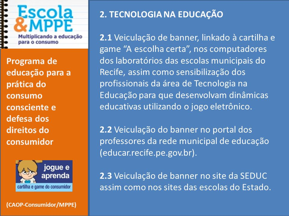 2. TECNOLOGIA NA EDUCAÇÃO