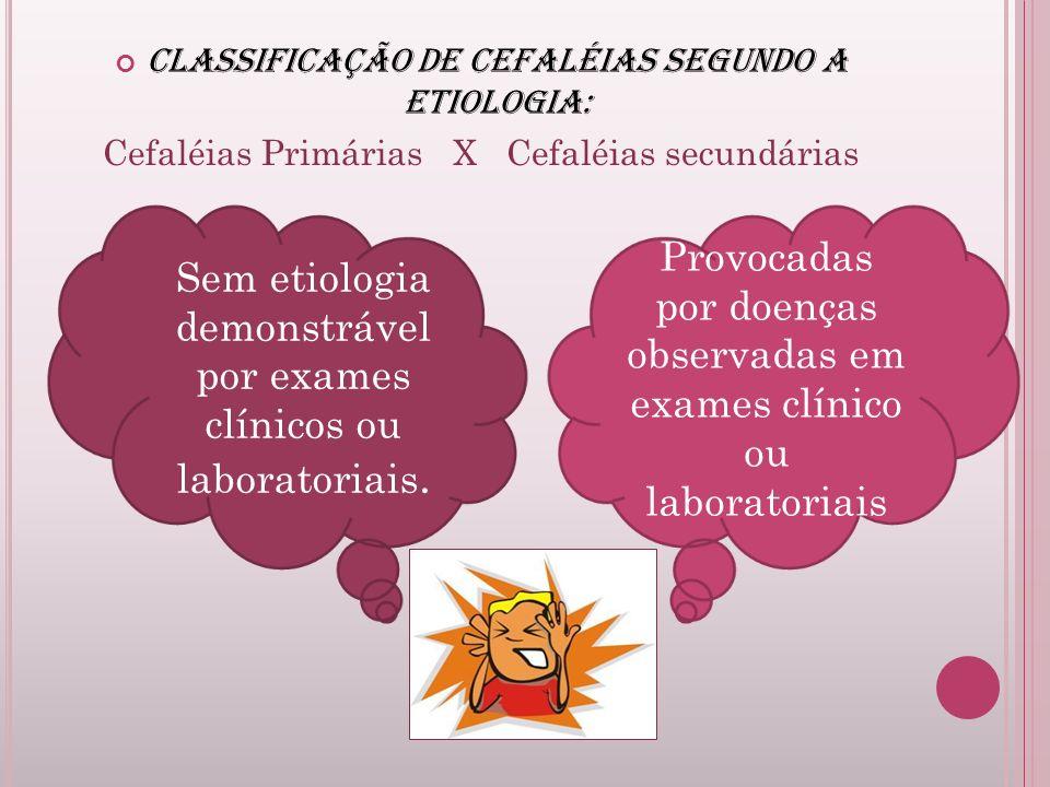 Sem etiologia demonstrável por exames clínicos ou laboratoriais.