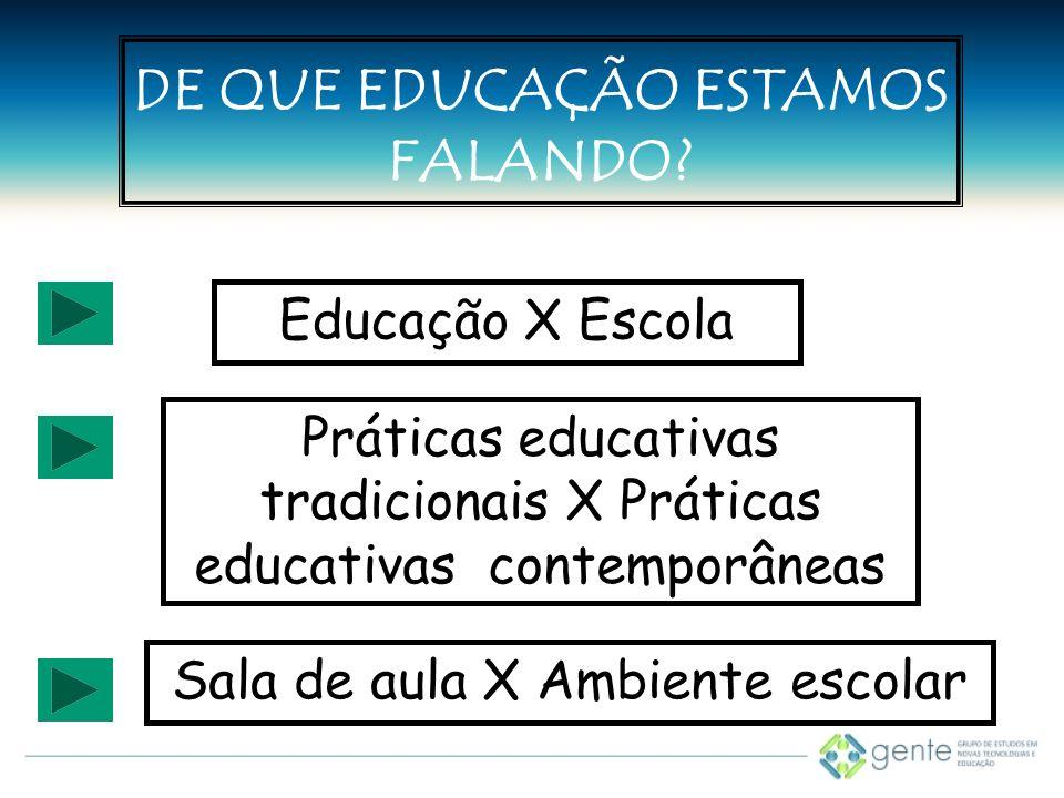DE QUE EDUCAÇÃO ESTAMOS FALANDO