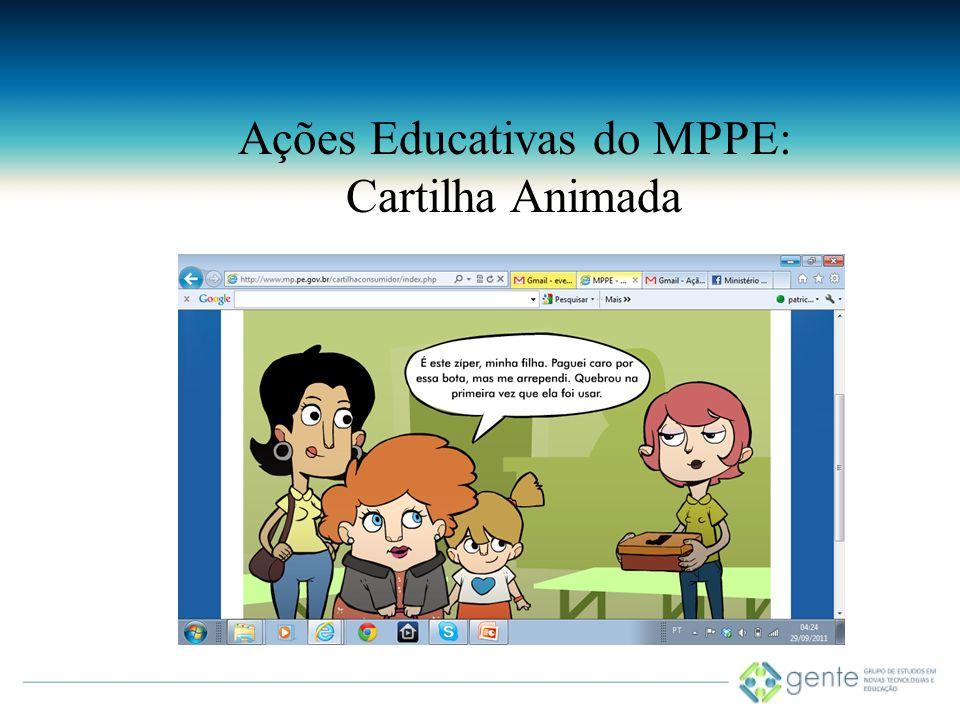 Ações Educativas do MPPE: Cartilha Animada