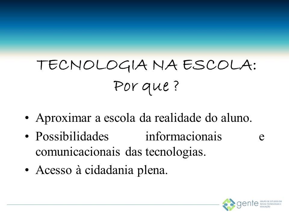 TECNOLOGIA NA ESCOLA: Por que