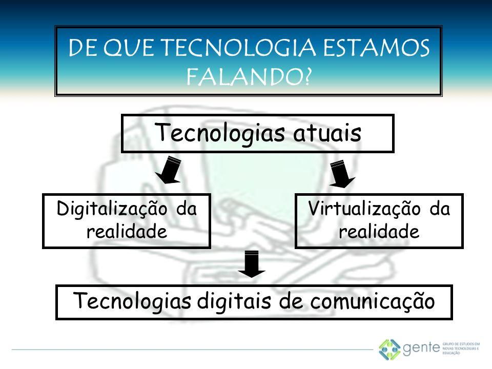 DE QUE TECNOLOGIA ESTAMOS FALANDO