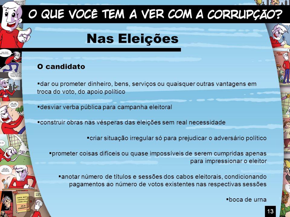 Nas Eleições O candidato