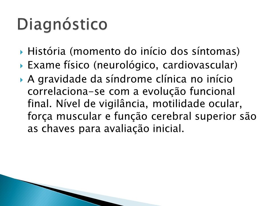 Diagnóstico História (momento do início dos síntomas)