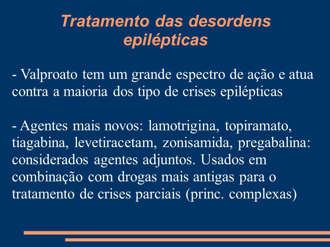 Tratamento das desordens epilépticas