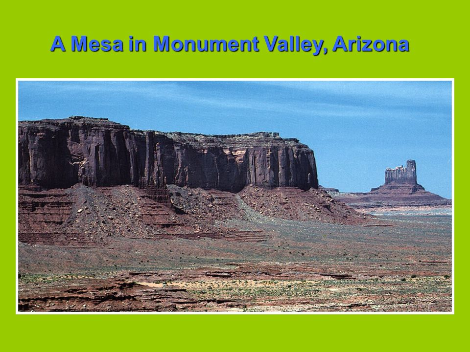A Mesa in Monument Valley, Arizona