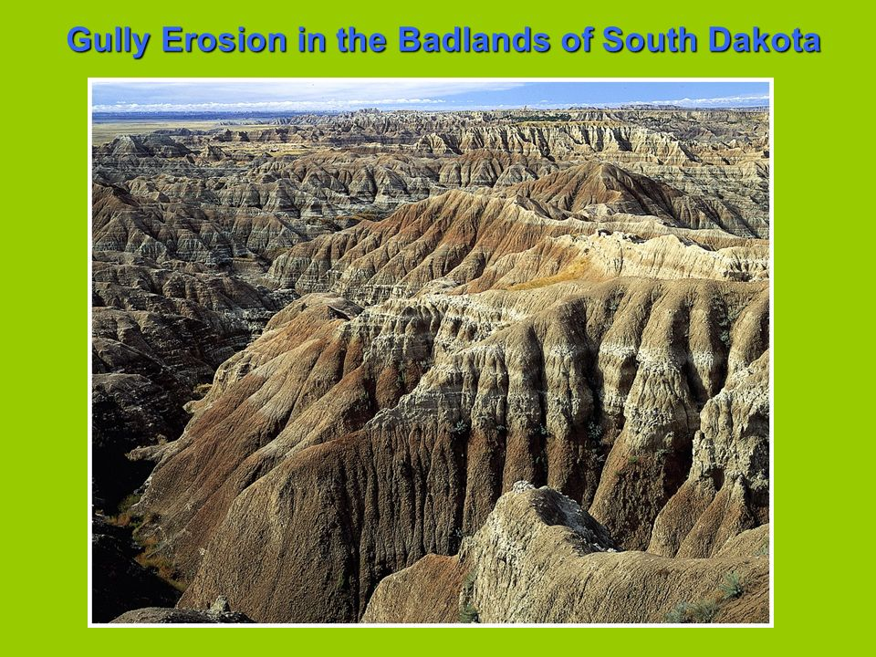 Gully Erosion in the Badlands of South Dakota