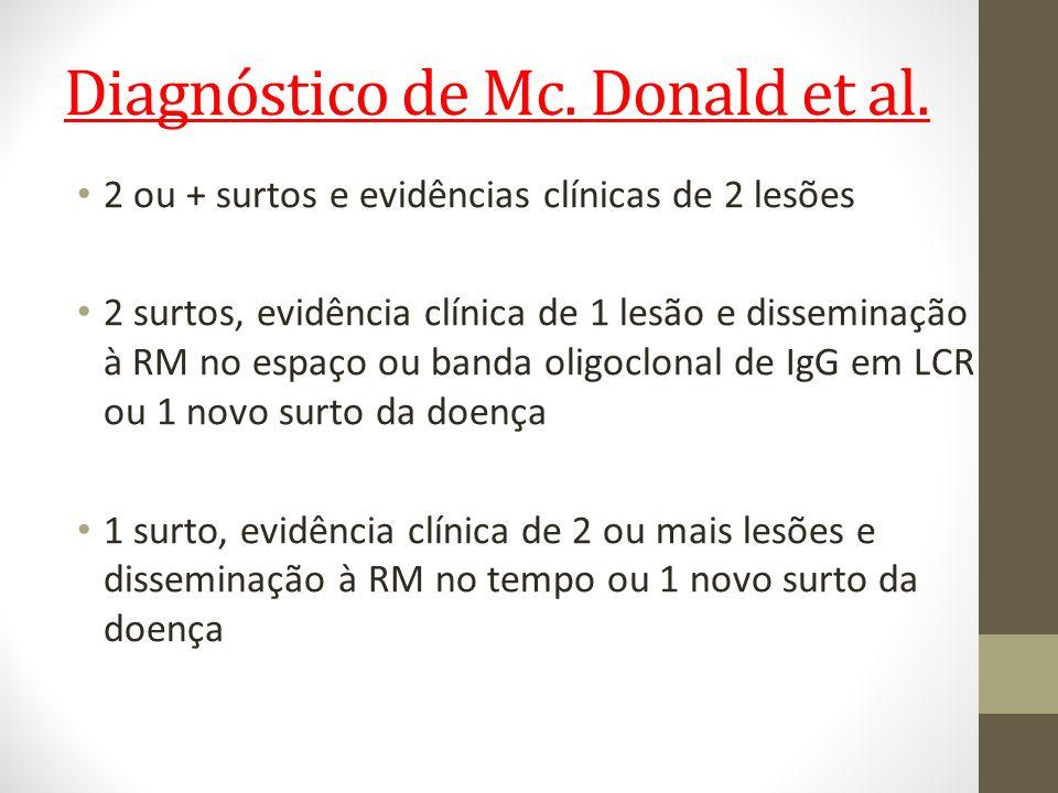 Diagnóstico de Mc. Donald et al.