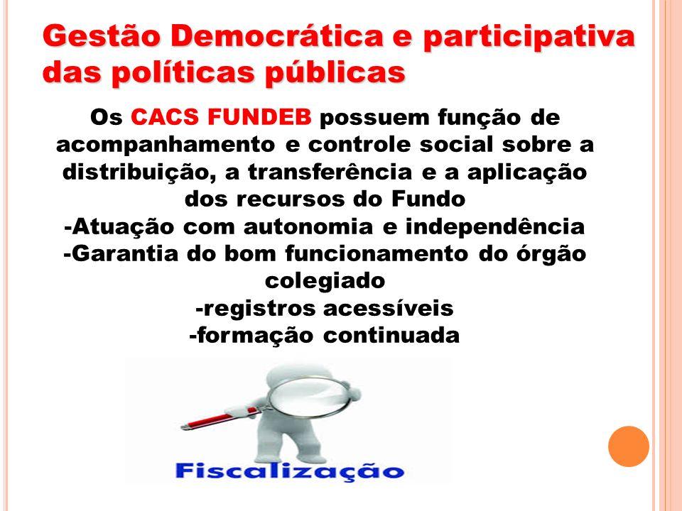 Gestão Democrática e participativa das políticas públicas