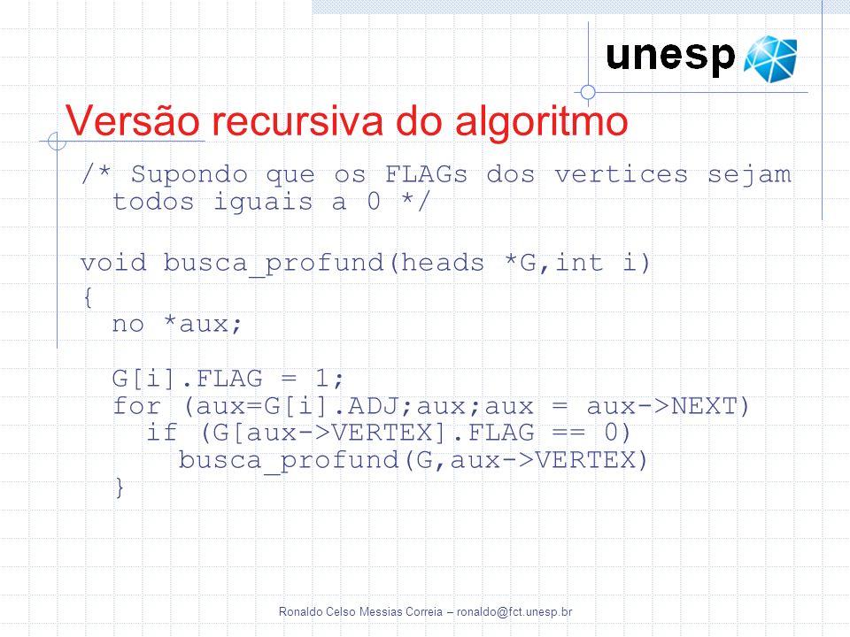 Versão recursiva do algoritmo