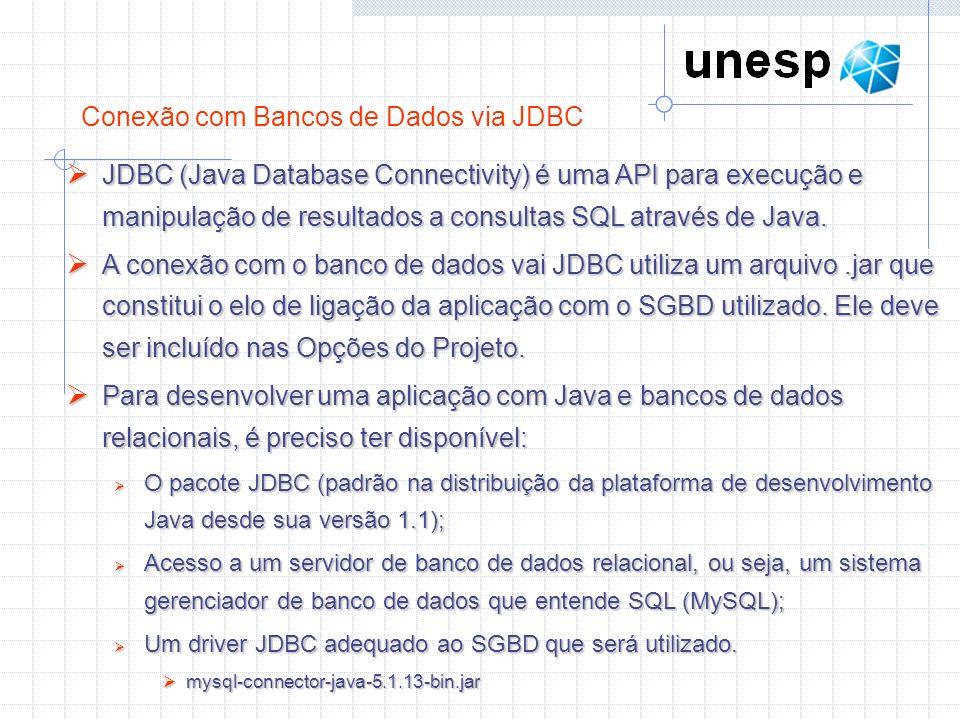 Conexão com Bancos de Dados via JDBC