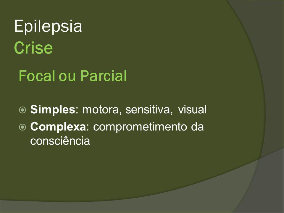 Epilepsia Crise Focal ou Parcial Simples: motora, sensitiva, visual