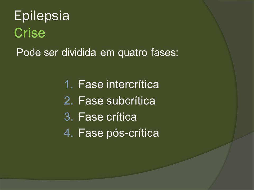 Epilepsia Crise Fase intercrítica Fase subcrítica Fase crítica