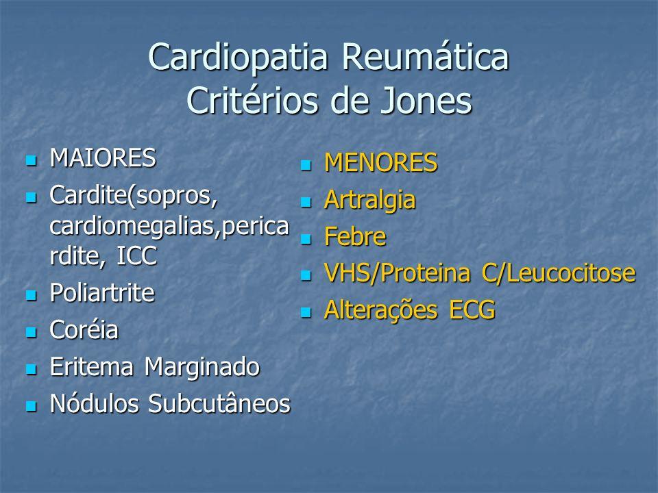 Cardiopatia Reumática Critérios de Jones