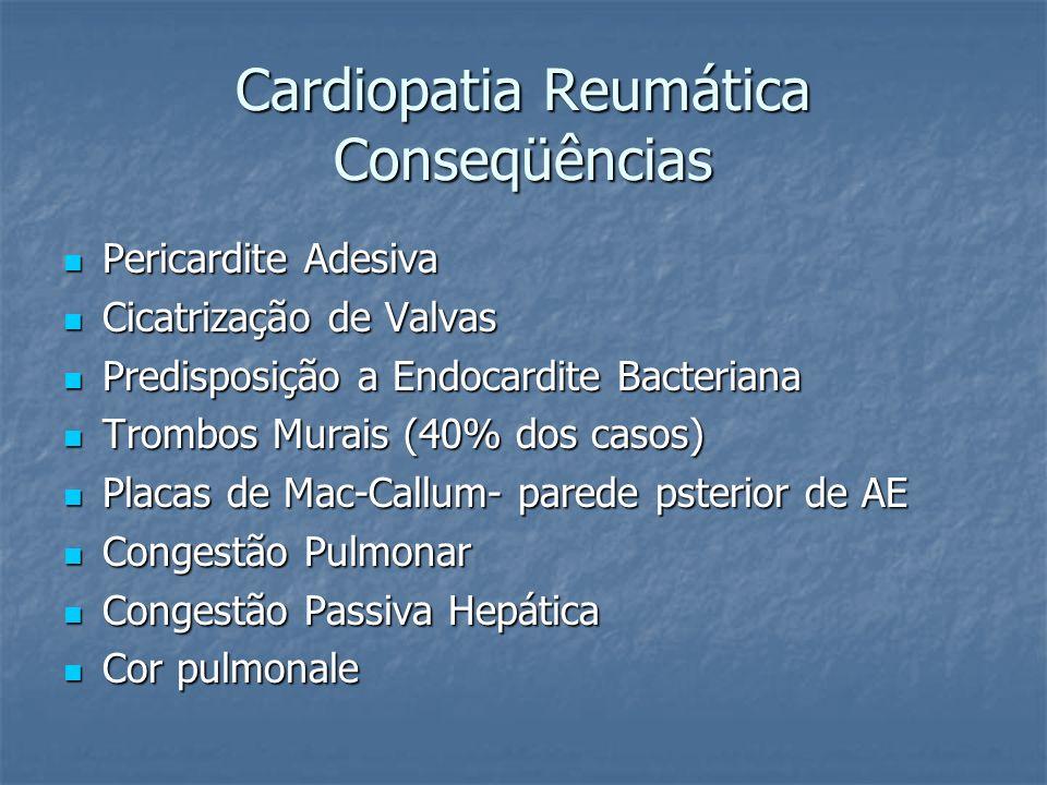 Cardiopatia Reumática Conseqüências