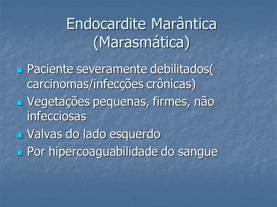 Endocardite Marântica (Marasmática)