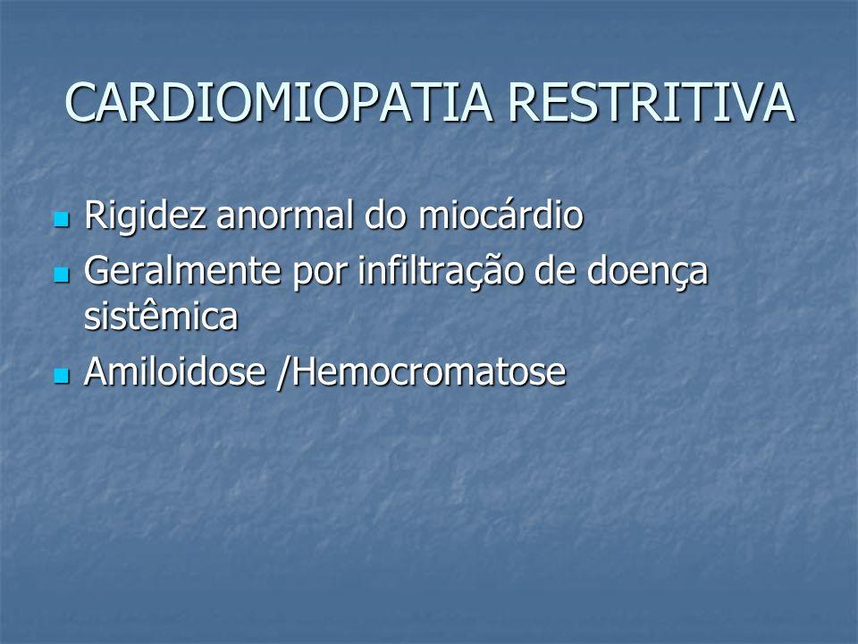 CARDIOMIOPATIA RESTRITIVA