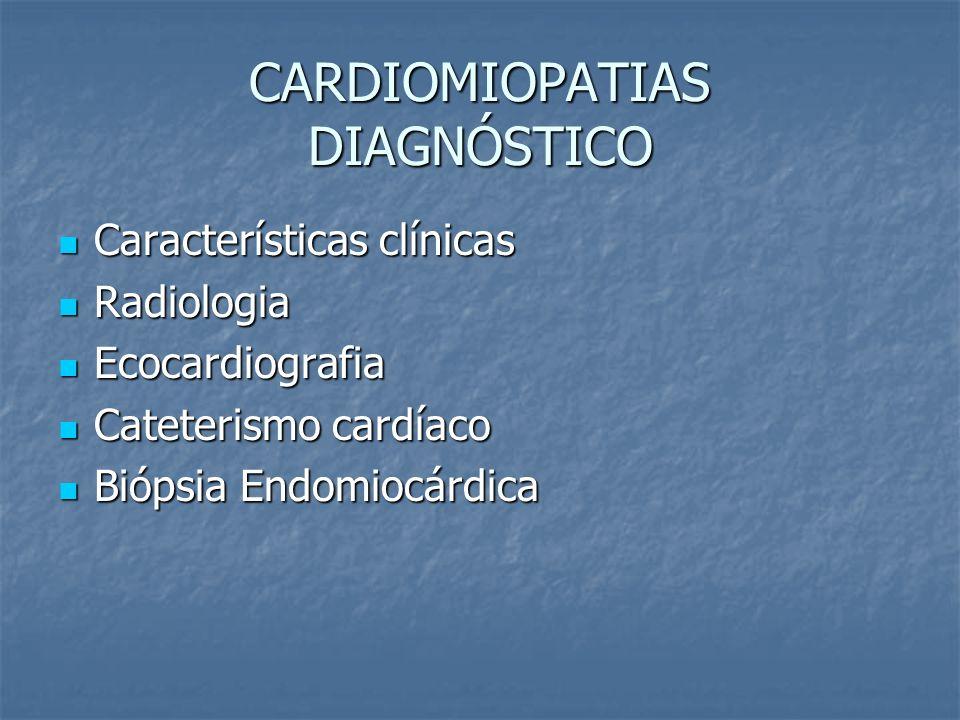 CARDIOMIOPATIAS DIAGNÓSTICO