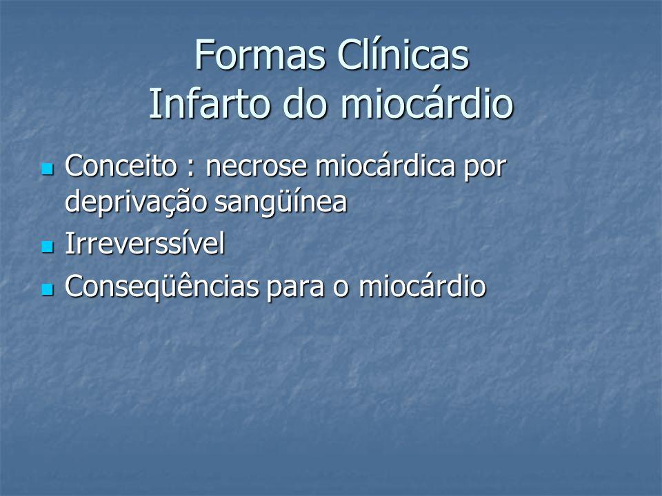 Formas Clínicas Infarto do miocárdio