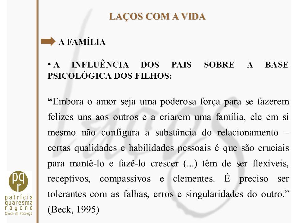 A INFLUÊNCIA DOS PAIS SOBRE A BASE PSICOLÓGICA DOS FILHOS: