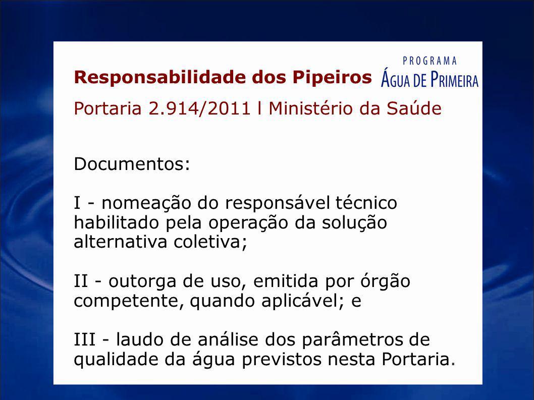 Responsabilidade dos Pipeiros Portaria 2