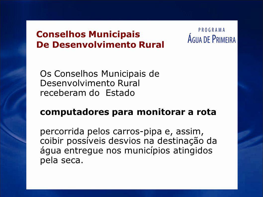 Conselhos Municipais De Desenvolvimento Rural.