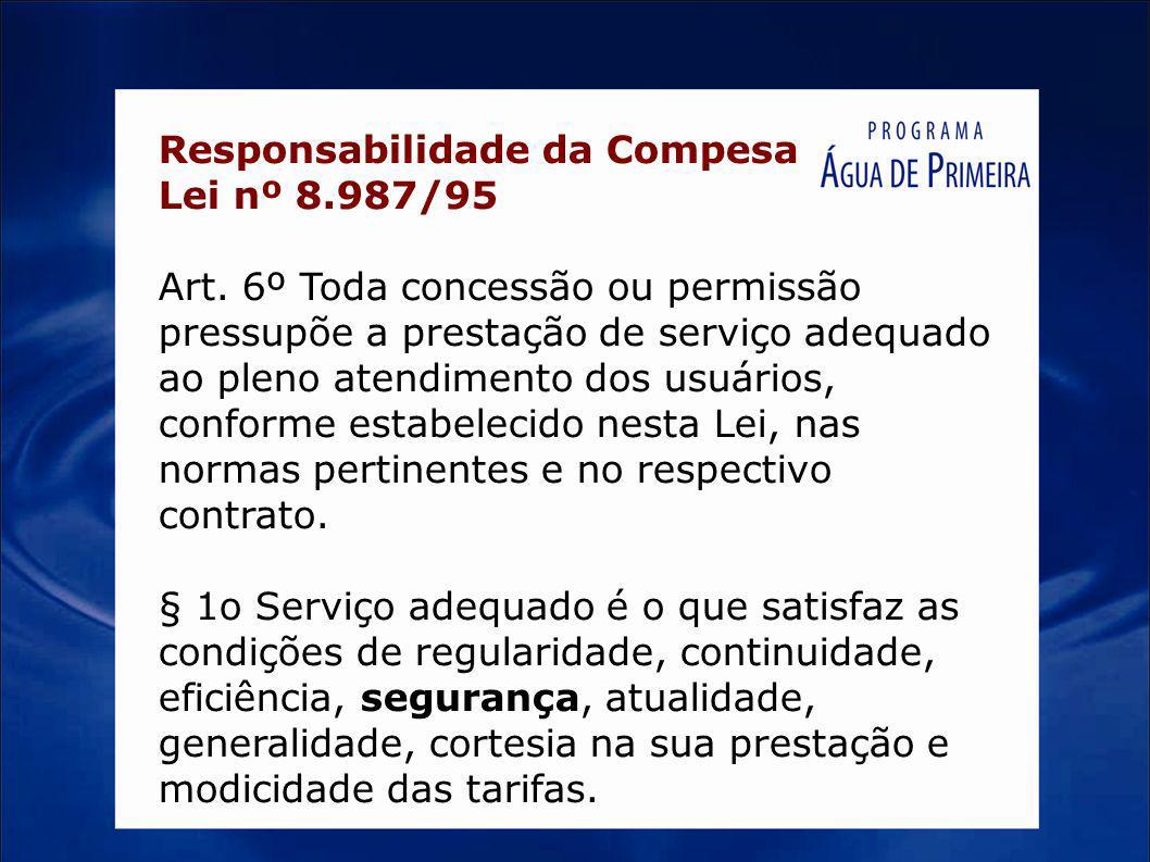 Responsabilidade da Compesa Lei nº 8.987/95