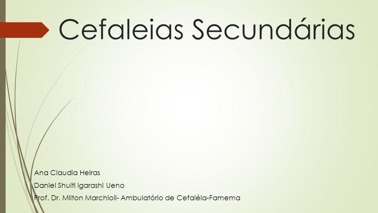Cefaleias Secundárias