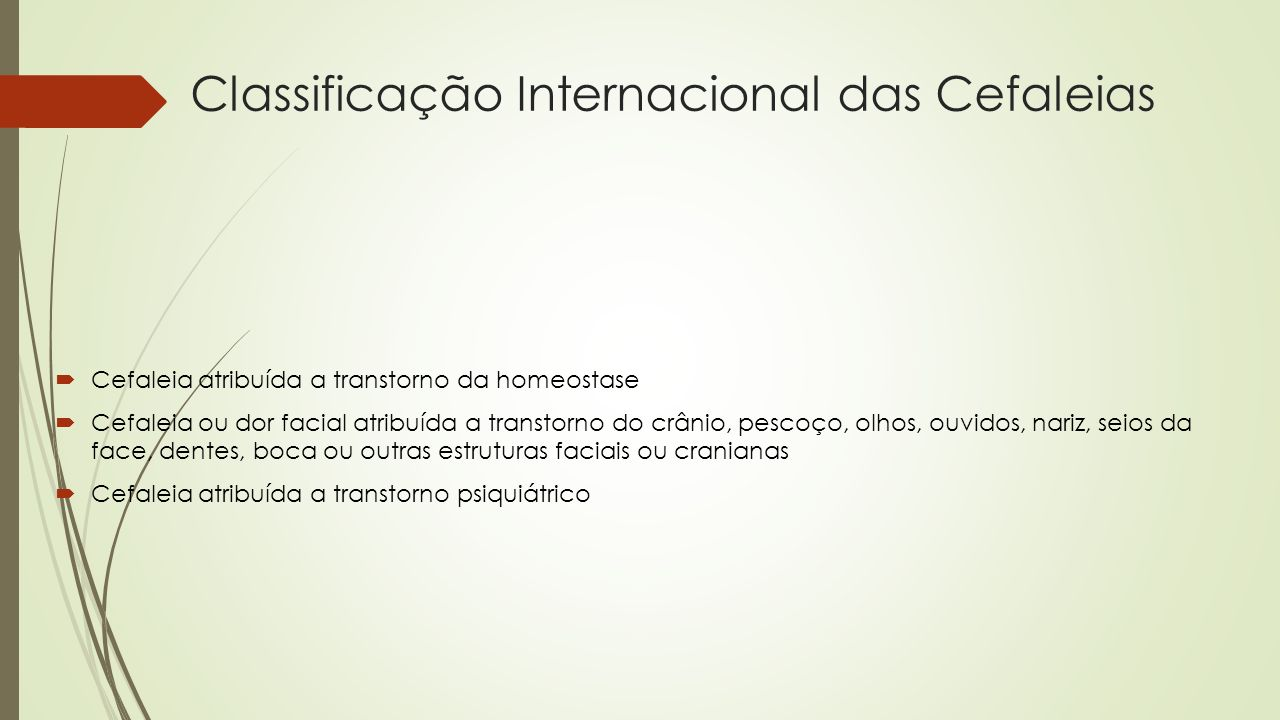 Classificação Internacional das Cefaleias