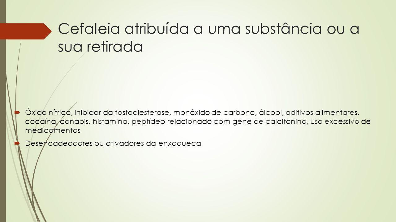 Cefaleia atribuída a uma substância ou a sua retirada
