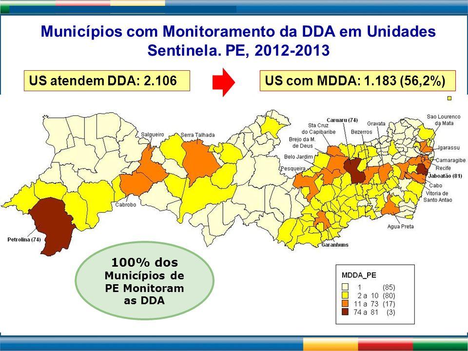 100% dos Municípios de PE Monitoram as DDA