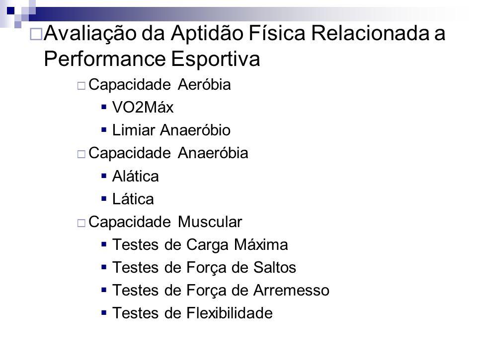 Avaliação da Aptidão Física Relacionada a Performance Esportiva