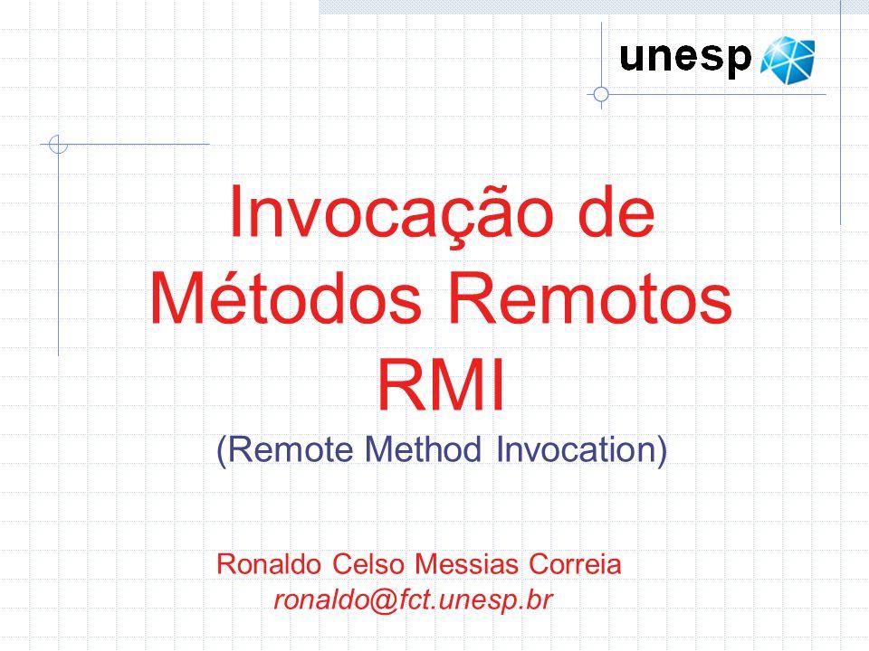 Invocação de Métodos Remotos RMI