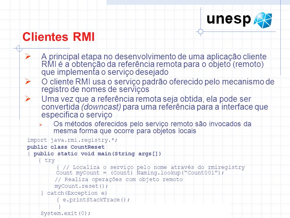 Clientes RMI