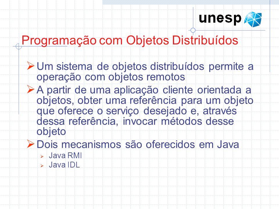 Programação com Objetos Distribuídos