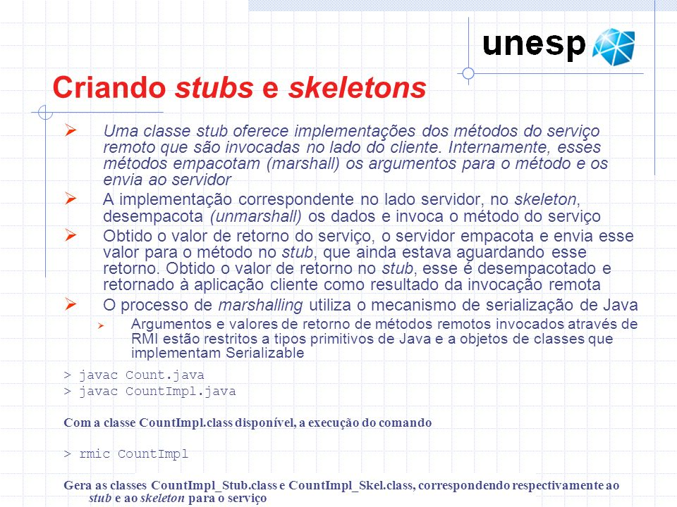 Criando stubs e skeletons