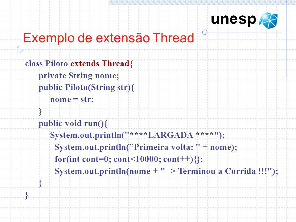 Exemplo de extensão Thread