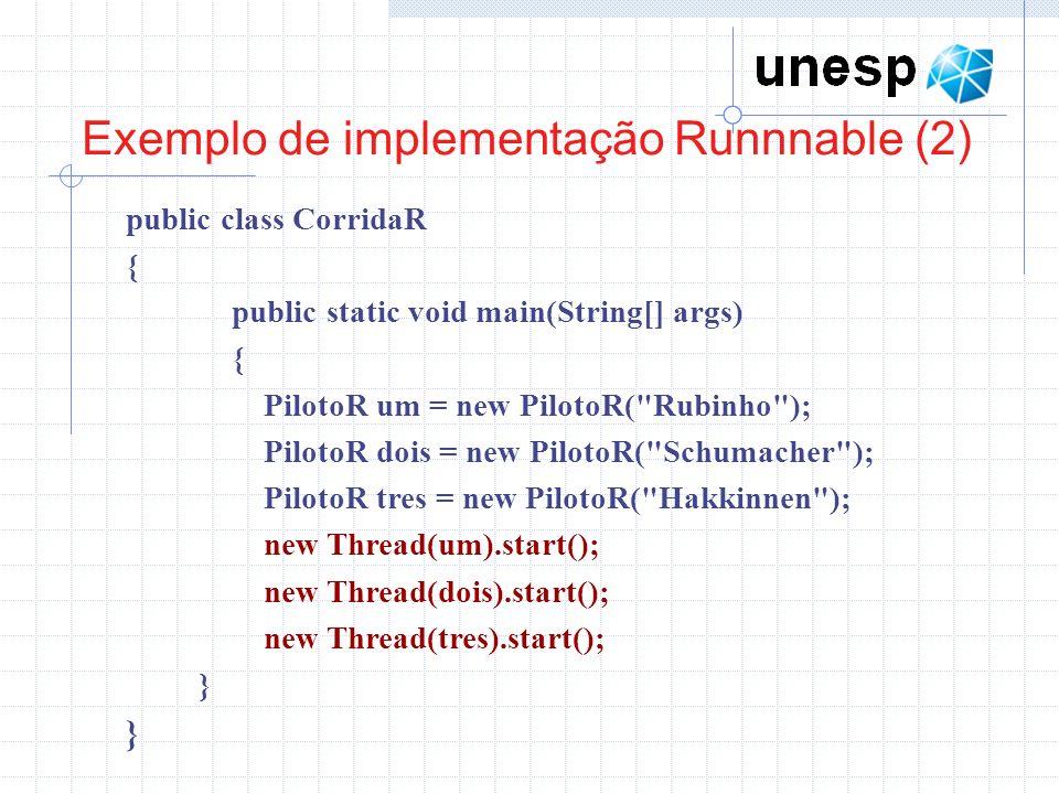 Exemplo de implementação Runnnable (2)