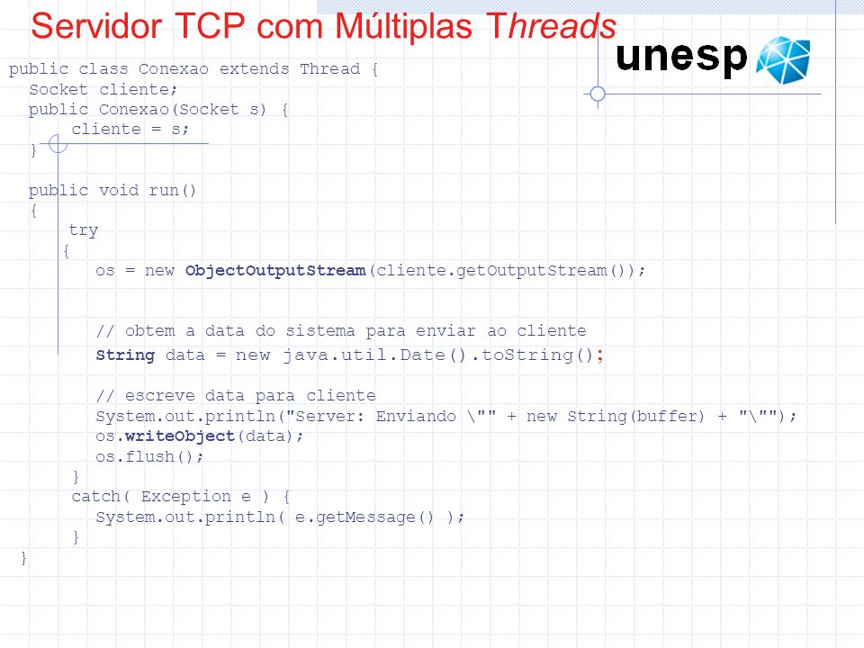 Servidor TCP com Múltiplas Threads