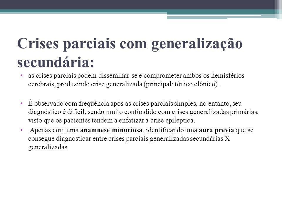 Crises parciais com generalização secundária: