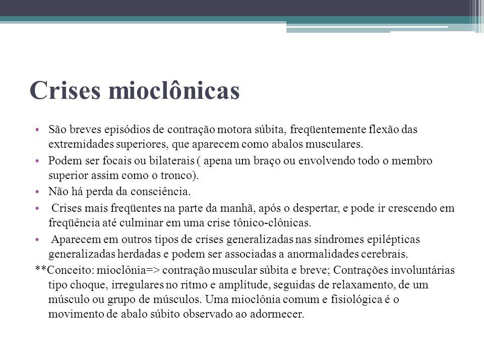Crises mioclônicas
