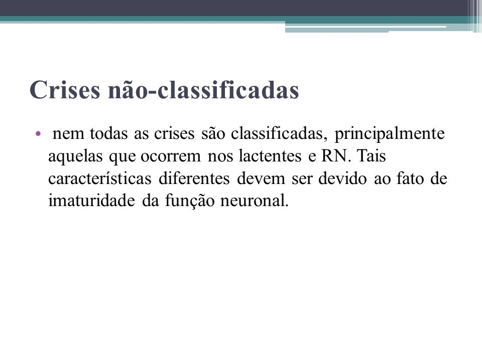 Crises não-classificadas