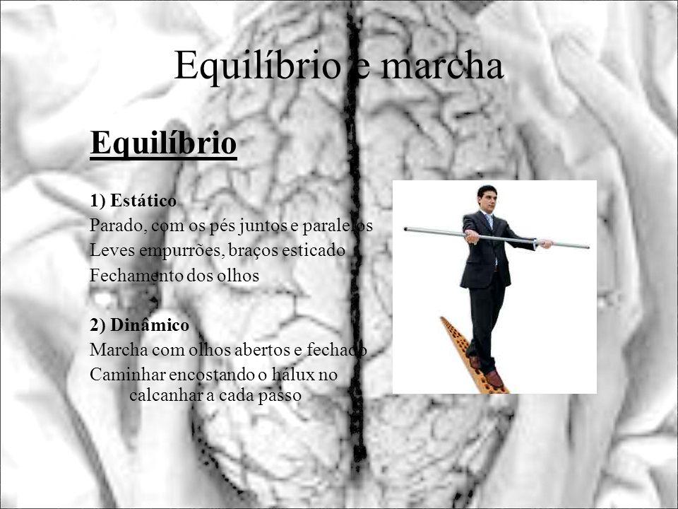Equilíbrio e marcha Equilíbrio 1) Estático